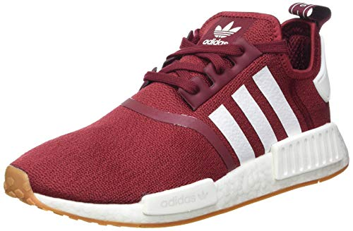 adidas NMD_R1, Sneaker Hombre, Collegiate Burgundy/Footwear White/Gum, 40 EU