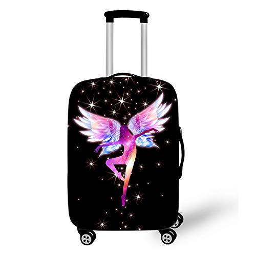Surwin 3D Elastica Proteggi Valigia Suitcase Luggage Cover Coperchio di Protezione Antipolvere Lavabile Copertura Viaggio Proteggi Bagagli Coprire (Ragazza dei sogni 7,XL (30-32 pollici))