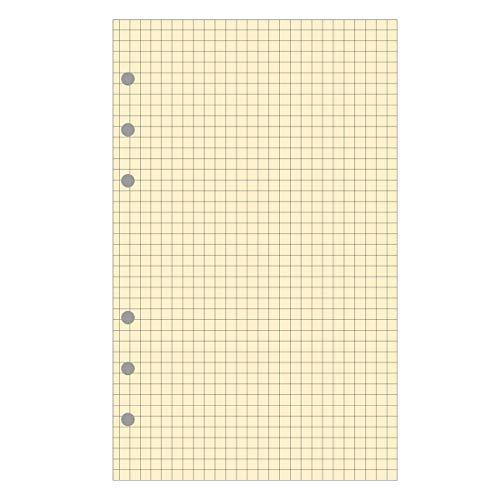 Exacompta - 18211E - Accessoire de recharge perforée - Feuillets Bloc - Carreaux Quadrillé 5x5 - pour Organiseur Exatime 17 - 10,5 cm x 17,2 cm - 40 Feuillets - Papier Ivoire