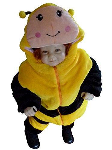F98 Taglia 9M-12M (74-80cm) Costume da Ape per bambini e neonati, indossabile comodamente sui vestiti normali