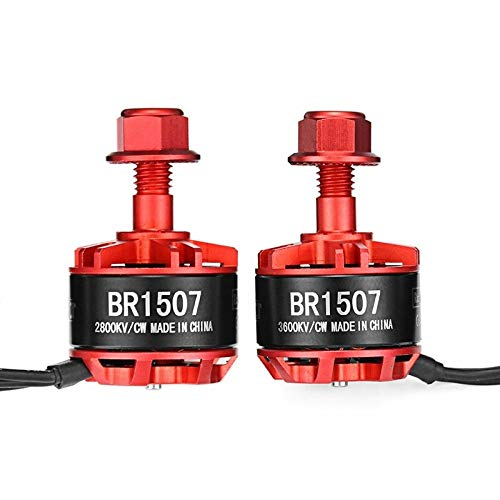 HUANRUOBAIHUO-HAT 1507 BR1507 2800KV 3600KV 2-4S Brushless Motor for RC-Modelle Multicopter Rahmen Propeller Ersatzteil Motor Ersatzteile (Color : 4PCS 3600KV)