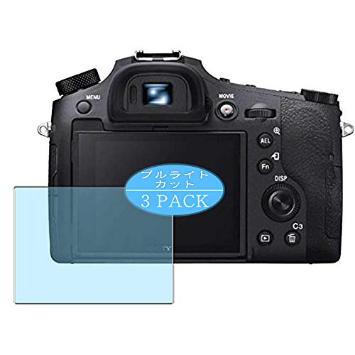 [3 Pack] Synvy Anti Blue Light Screen Protector Compatible with Sony Cyber-shot DSC-RX10 IV 4 Screen Film Protective Protectors [Not Tempered Glass]