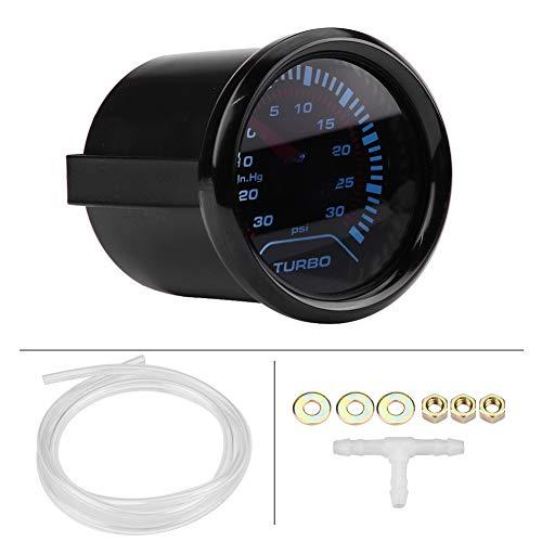 Qiilu Ladedruckanzeige LED-Licht Langlebig Sensor Monitor Präzise Metall Öl Druck Messgerät Anzeige 12 V 4 Stück