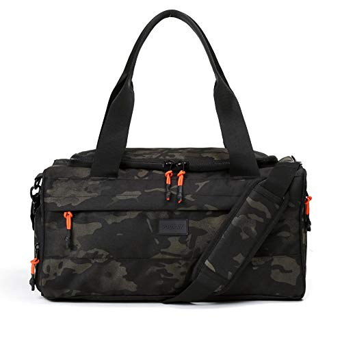 Vooray Boost XL Duffel, Large Water-resistant Gym Bag with Shoe Compartment, Accessory Pockets, Premium Overnight Weekender Travel Bag, Durable Sports Duffel Men Women 32L