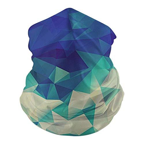 WEURIGEF Impresión 3D Patrón geométrico prismático Fleece Neck Kawaii Cool Face Balaclavas - Estilo japonés Anime Animales de Dibujos Animados Clima frío Face Shield`9