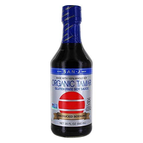 San J Sauce Soy Tamari Gluten Free Low Sodium, 20 oz