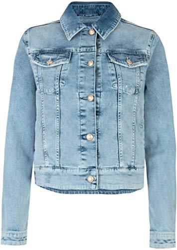 Lieblingsstück Damen Jeansjacke in Heller Waschung IsaliW Größe 40 EU Blau (blau)