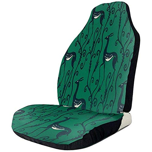 Auto Stoelen Cover Black Deer In Green Voorstoelen Cover Automotive Seat Protector