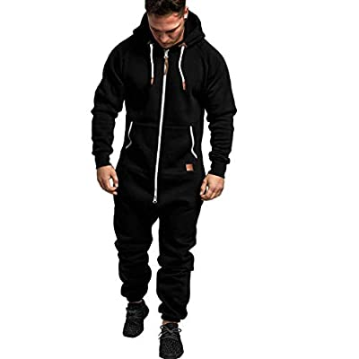 Men's Hooded Camouflage Sweatshirt, Limsea Slim Fit Tracksuit Set Casual Jogging Warm Sports Suit from Limsea