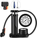 VEEYAA Pump Floor Bicycle Air Pump, Lightweight Portable Bike Floor Pump Hand Foot