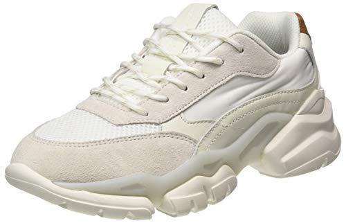 Marc O'Polo Damen 00715503501334 Sneaker, 125 White/Cognac, 39 EU