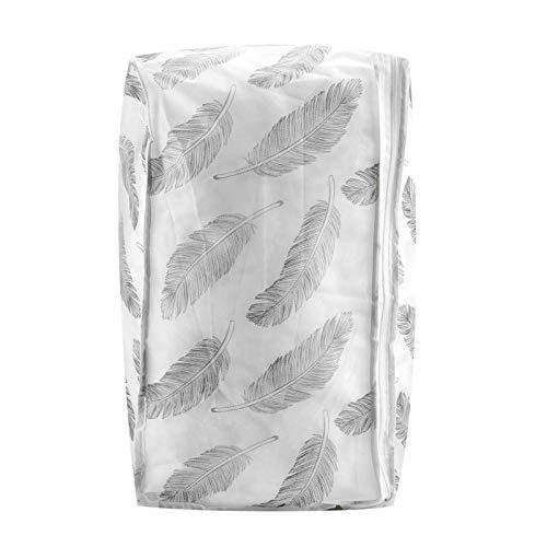 Kadimendium Bolsa de Almacenamiento de Ropa Material Impermeable PEVA Resuable para Ropa de Almacenamiento(57 * 40 * 22CM, Feather Wings)