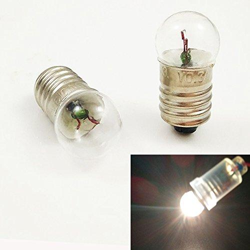 Preisvergleich Produktbild Miniatur-Schraubsockelbirne E10 für Taschenlampe / Arbeitslicht (10 Stück),  4.8V 0.5A