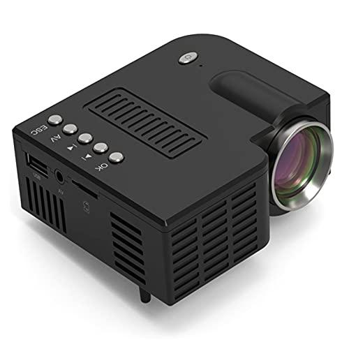 Qianfeng Proyector de Video Proyector portátil Conectado la Misma Pantalla 1080p Completo HD Reproductor Multimedia portátil