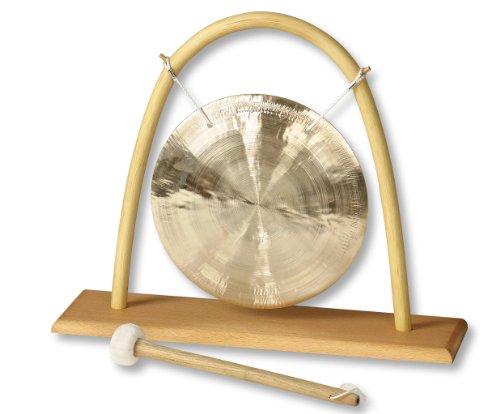Feng (Wind) Gong Ø 25 cm mit Rattan - Tischständer