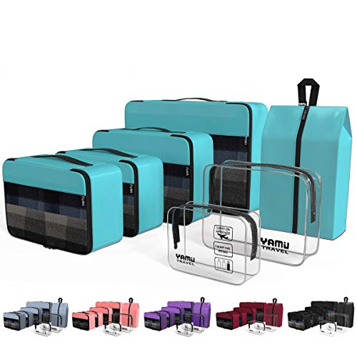 YAMIU Packing Cubes 7-Pcs Travel Organizer