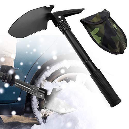 Migimi Pala plegable, multifuncional, fácil de transportar, de acero inoxidable de aleación...