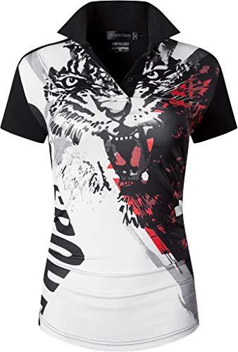 jeansian Women's Outdoor Sport Dry Fit Short Sleeves Polo Tee Poloshirt Tshirt T-Shirt Golf Tennis SWT251