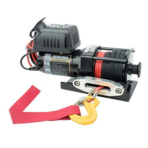 Warrior WW20SPA12 ATV/UTV Quad Elektrische Seilwinde Ninja 2000LB A 907 kg 12 V Kunststoffseil