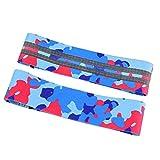 SGZYJ Bandas de resistencia para ejercicios antideslizantes de hilo de látex para yoga, bandas de resistencia para entrenamiento deportivo (color: azul camuflaje, tamaño: pequeño)