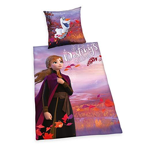 Herding Disney\'s Die Eiskönigin 2 Bettwäsche- Set, Baumwolle, violett, 135 x 200 cm