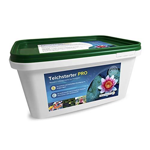 Profi-Vertrieb UG - Teichstarter Pro Wasserzusatz für bessere Wasserwerte im Gartenteich I geeignet für Koi- & Fisch-Teich 100{0b4a217e5aa5504cc2bbc978b1795a66fa8ade5734b6acdd678108c68cd3cccf} Phosphat-frei I optimiert pH-Wert KW-Wert GH-Wert I Algenmittel 3,4 kg
