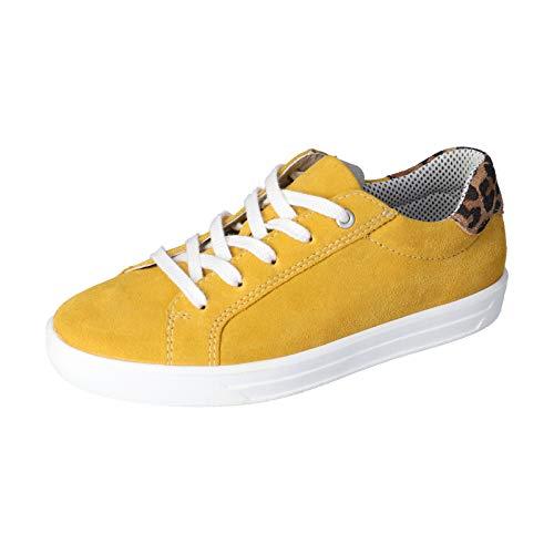 RICOSTA Kinder Low-Top Sneaker Malia, Weite: normal, strassenschuh schnürschuh sportschuh Kinder Kids Maedchen Kinderschuhe toben,gelb,36 EU / 3 UK