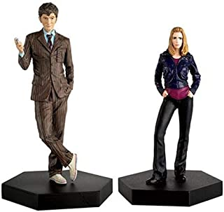 Eaglemoss Publications Doctor Who Set #2 Tenth Doctor and Rose Tyler Statues