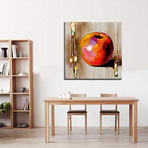 WSNDGWS Pintado a Mano Simulación Fruta Manzana Pintura al óleo Decoración del hogar Pintura