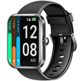 LETSCOM Smart Watch for Women Men, 1.69 Inch Touch Screen Smartwatch, Fitness Trackers with Heart Rate Monitor, Alexa Built-In, Pedometer Step Counter with Blood Oxygen Saturation & 5ATM Waterproof