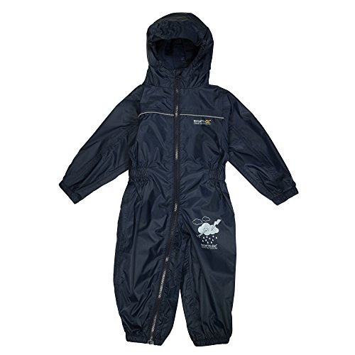 Regatta Great Outdoors Childrens Toddlers Puddle IV Waterproof Rainsuit (36-48m) (Oxford Blue)