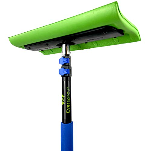 EVERSPROUT Never-Scratch SnowBuster 6.5-to-18 Foot (Up to 24 ft Standing Reach) | Pre-Assembled Extendable Roof Rake for Snow Removal | Lightweight Aluminum, Soft Foam Pad | Exclusive Push/Pull Design