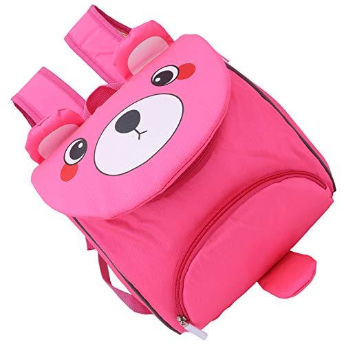 Cerlingwee Mochila para niños, Mochila de Oso de Dibujos Animados, Mochila de jardín de Infantes, Mochila para niños, Escuela Duradera de diseño Elegante para(Bear Pink)