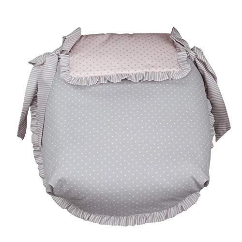 Babyline Dots - Colcha de capazo, unisex, color rosa