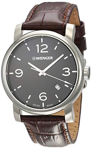 WENGER Herren-Armbanduhr WENGER URBAN METROPOLITAN 01.1041.128 Analog Quarz Leder WENGER URBAN METROPOLITAN 01.1041.128