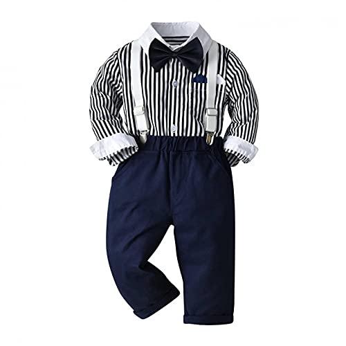 YQSR Vestido para bebé con diseño de lazo de manga larga para bebé y niño