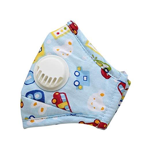 YYMQ médico Antipolvo con filtros de carbón Activado, Lavable y Reutilizable, de respiración para alergia al Polen, carpintería, siega, Correr, Ciclismo, Actividades al Aire Libre(para niños)