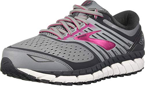 Brooks Women's Ariel 18, Grey/Pink, 9 D US