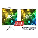 Elite Screens Yardmaster 2 DUAL Projection Screen, 180-INCH 16:9, Front and Rear Wraith Veil Dual 4K / 8K Ultra HD, Active 3D, HDR Ready Indoor and Outdoor Projection Screen, OMS180H2-Dual