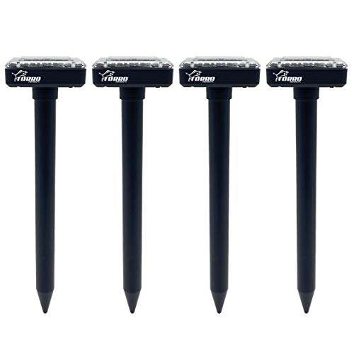 Torro Products 4 Pack Mole Repellent Solar Powered for Lawn Garden Yard Outdoor Pest Control Rodent...