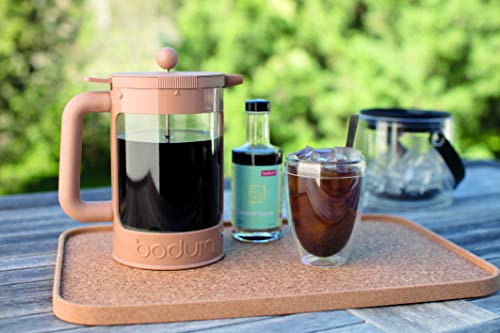 Bodum Bean Cold Brew Coffee Maker, Press, Plastic, 1.5 Liter, 51 Ounce, Black 4 Innovative locking lid system keeps your coffee hot and helps prevent spills Includes two lids; one for the fridge overnight, and one with plunger No paper filters required, means more flavor without any waste