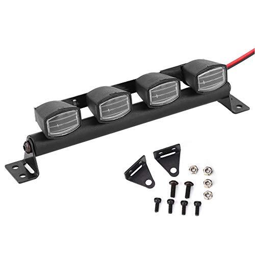 Tbest Luces de Techo RC, Escala 1:10 Barra de luz de Techo RC Crawler Car Bombillas de Techo RC Focos Accesorios Accesorio para Pull Car(4 LED)