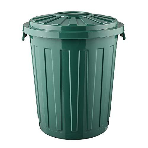 keeeper Eco Mats Cubo de Basura/Papelera polivalente con Tapa cerrable, Grande, plástico Resistente (PP), 23 l, Reciclado, Verde, Ø 36 x 42 cm
