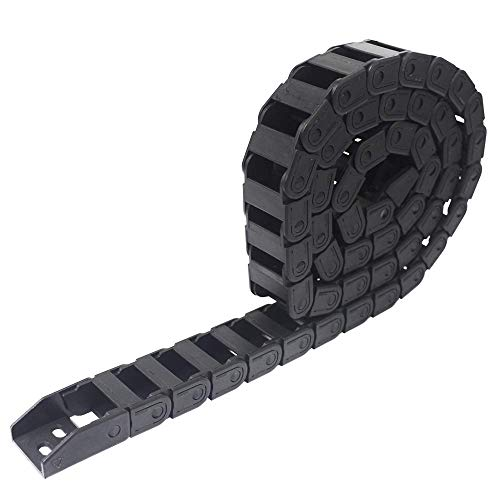 New 1M Black Plastic Drag Chain Cable Carrier for Electrical Machines Engineering CNC Industrial Parts (10mm x 20mm)