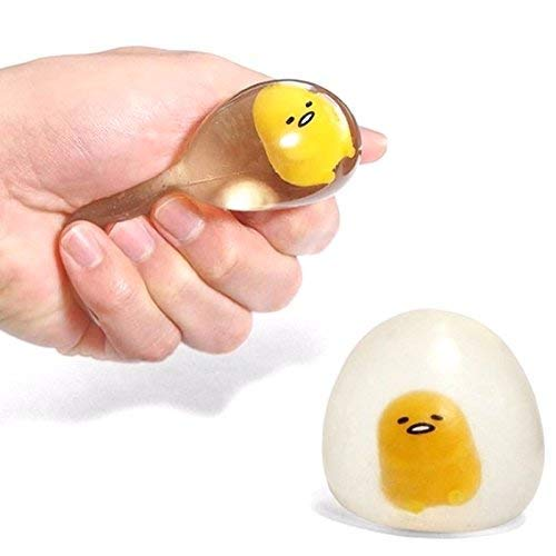 New Funny Jumbo Squishy Lazy Puking Egg Jumbo Slow Rising Squeeze Squishy Toy Cute Squeeze Ball