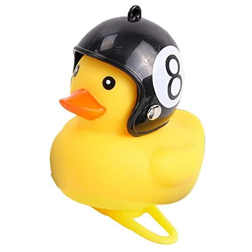 1pc Licht Bell-zubehör Cartoon Silica Little Duck Helm Licht Glänzende Mountainbike Lenker Ente