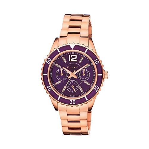 Elixa Reloj Analog-Digital para Womens de Automatic con Correa en Cloth S0318824