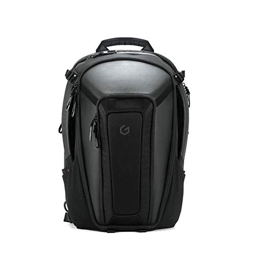 Carry+ Professional Laptop Backpack 15 Inch Hard Shell Protection Gaming Computer Bag Cool Looking Water-repellent for Work/Business/School/College/Riding/Travel/Men/Women-Black