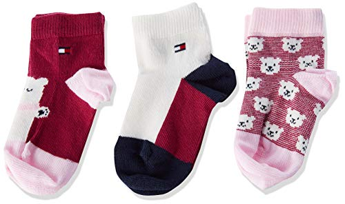 Tommy Hilfiger Unisex-Baby TH 3P Bear GIFTBOX Socks, pink Combo, 19/22 (3er Pack)