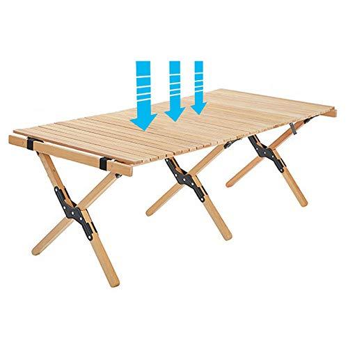 YYXT Mesas De Picnic Escritorio Mesa Plegable De Bambú Plegable Mesa De...